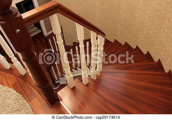 Escaleras de madera - csp29174614