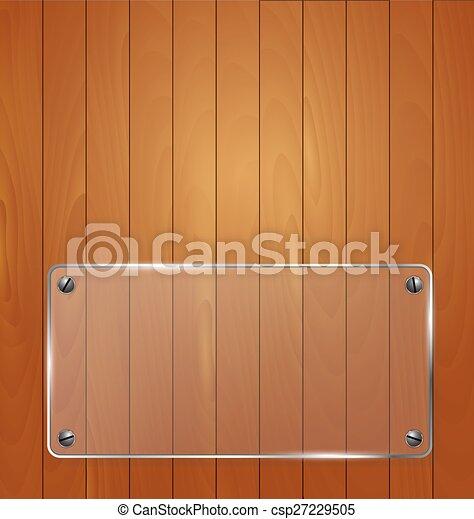 Textura de madera con marco de vidrio. Ilustración de vectores - csp27229505
