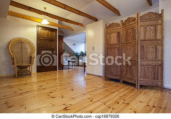 de madera, hogar, pantalla, -, nublado - csp16879326