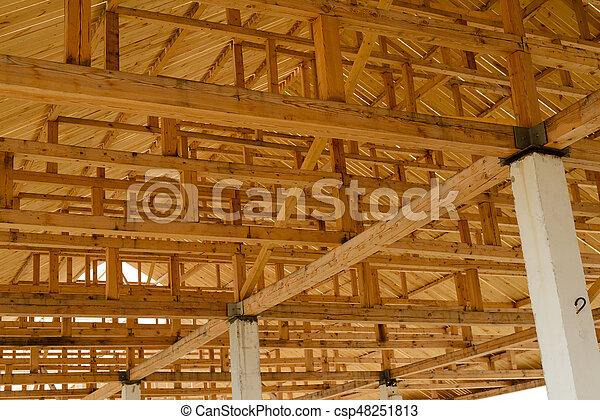 Techo de madera interior good foto techo de interior para for Techos madera interior