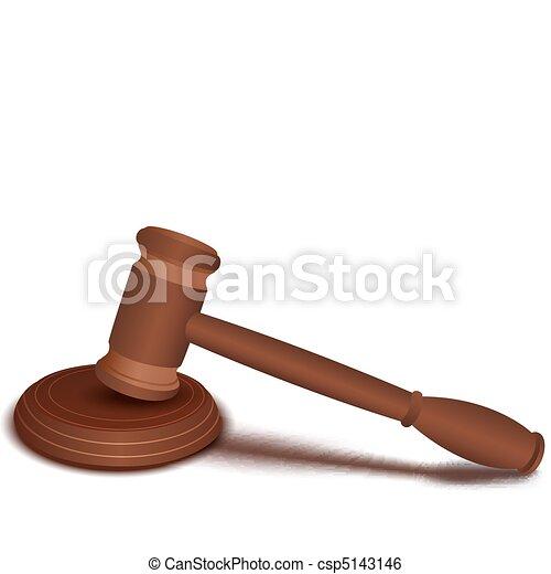 de madera, martillo - csp5143146