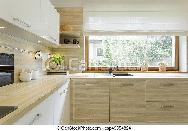 De madera moderno gabinetes cocina gabinetes de for Gabinetes de cocina modernos