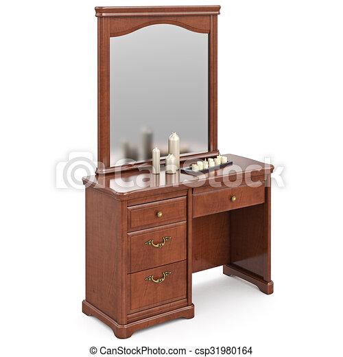 De madera moderno tocador espejo gr fico de madera for Espejos modernos en madera