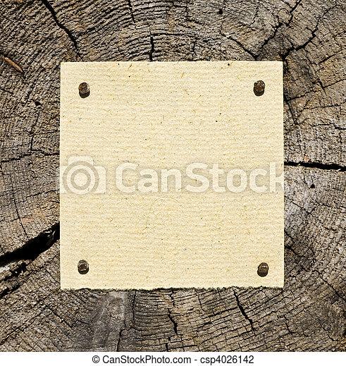 de madera, papel, viejo, plano de fondo - csp4026142