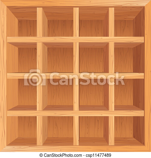 De madera plano de fondo estantes De madera conceptual vector