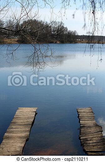 de madera, puentes - csp2110211