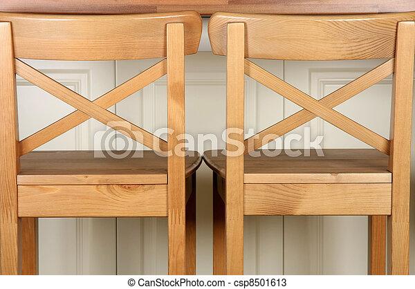 De madera, taburete, mostrador, barra, cocina. Tiro, de... fotos de ...