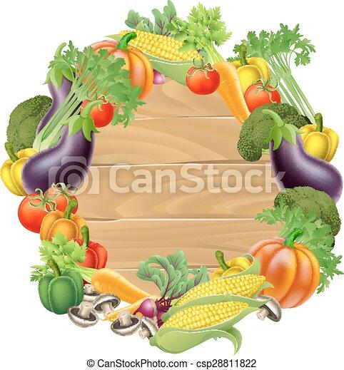 Vegetales de madera - csp28811822