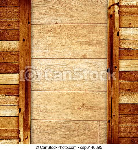Tejas - viejas tablas de madera - csp6148895