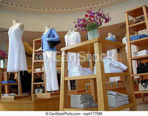 de opslag van de kleding - csp0177588