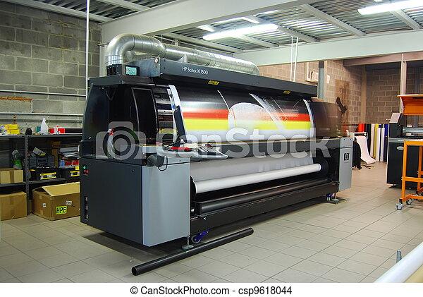 de par en par, formato, prin, -, impresión, digital - csp9618044