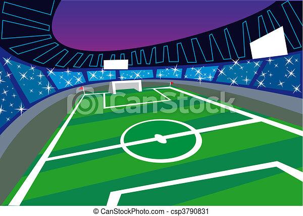 La perspectiva del estadio de fútbol - csp3790831