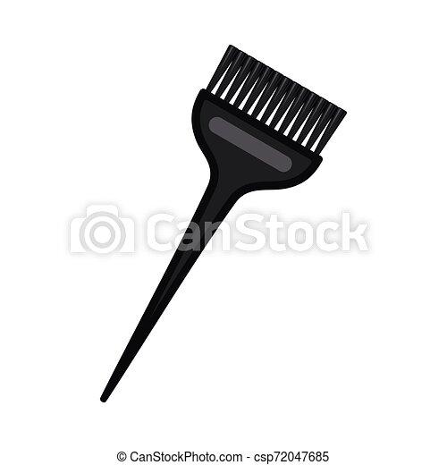 Un pincel negro de colorante de pelo largo - csp72047685