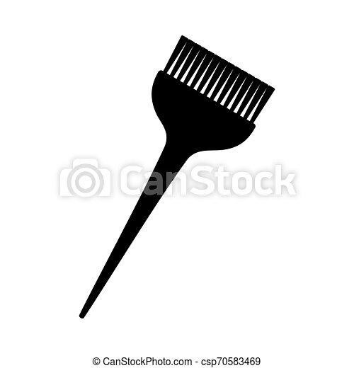 Silueta de pincel blanco y negro - csp70583469