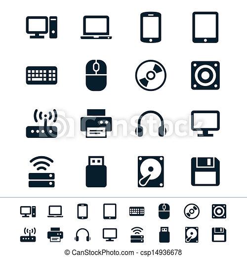 de pictogrammen van de computer - csp14936678