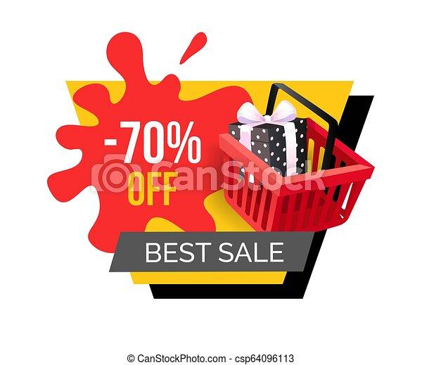 La mejor venta, 70 por ciento de descuento en descuento de precios - csp64096113