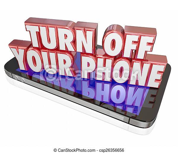 de, silencioso, vuelta, móvil, modales, cortés, teléfono celular, tranquilidad, modo, su - csp26356656