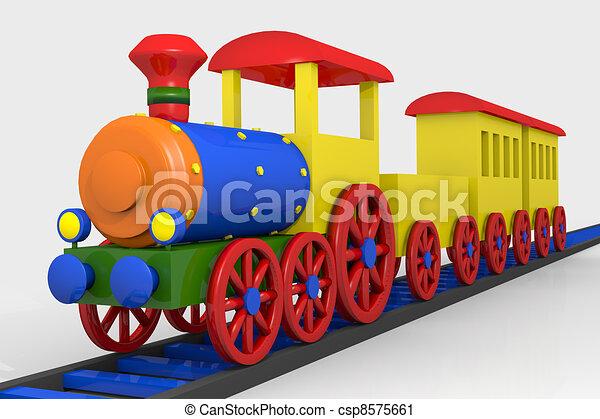de trein van het stuk speelgoed - csp8575661