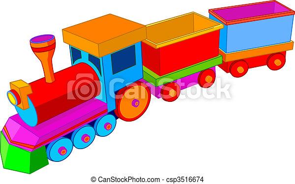 de trein van het stuk speelgoed - csp3516674