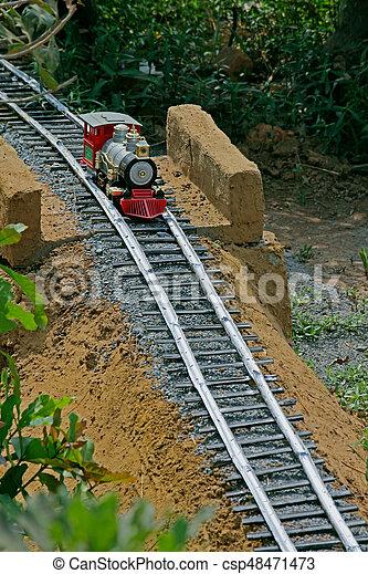 de trein van het stuk speelgoed - csp48471473