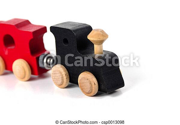 de trein van het stuk speelgoed - csp0013098