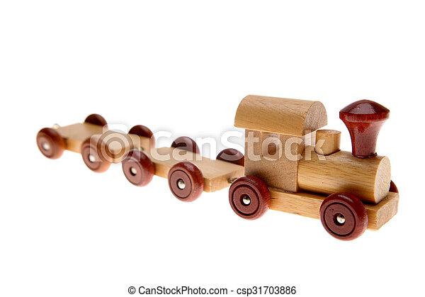 de trein van het stuk speelgoed - csp31703886