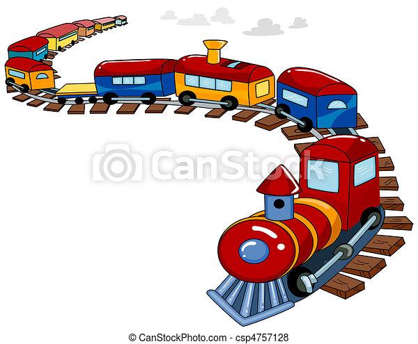 de trein van het stuk speelgoed, achtergrond - csp4757128