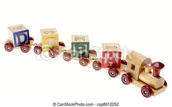 de trein van het stuk speelgoed - csp8612252