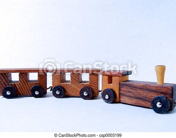 de trein van het stuk speelgoed - csp0003199