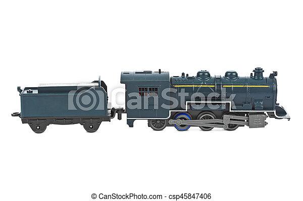 de trein van het stuk speelgoed - csp45847406