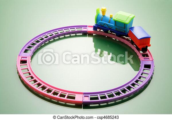 de trein van het stuk speelgoed - csp4685243