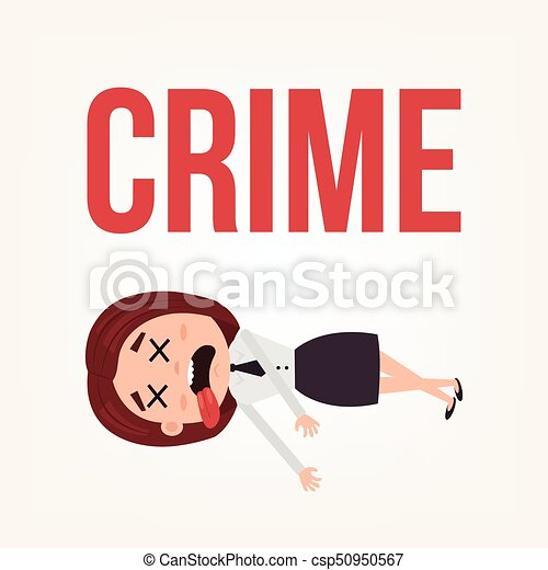 dead body business woman office worker character contract killing rh canstockphoto com dead body cartoon pic Cartoon Dead Person