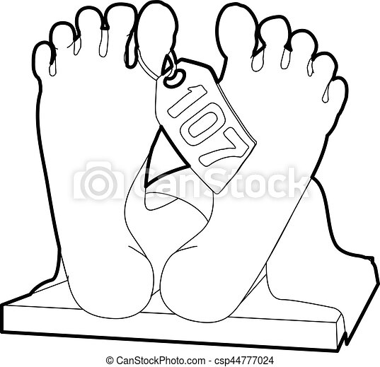 Dead Body Icon Outline Style