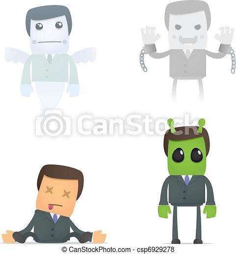 dead cartoon businessman  - csp6929278