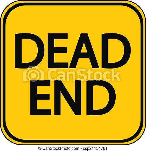Dead End sign - csp21154761