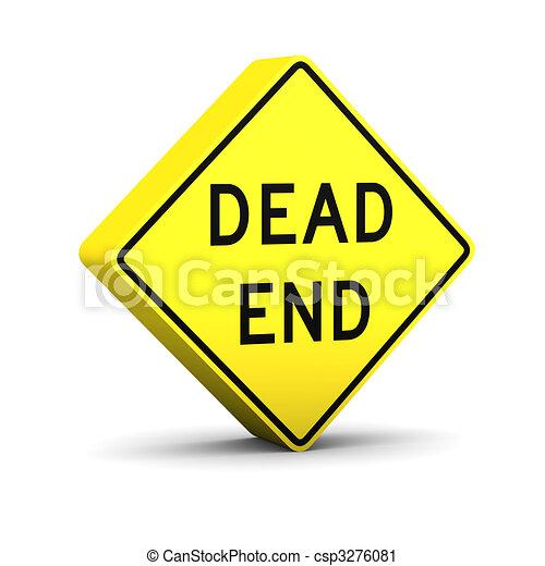 Dead end sign - csp3276081