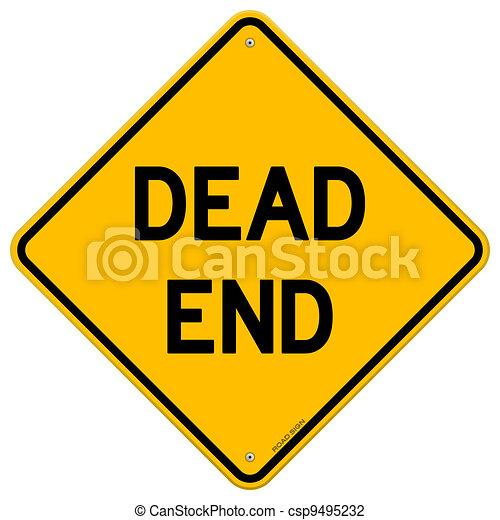 Dead End Sign - csp9495232