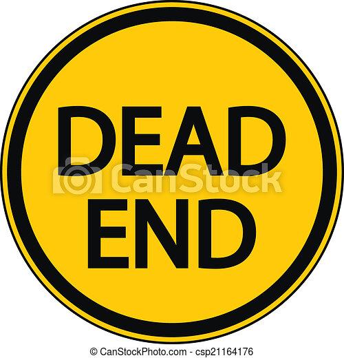 Dead End sign - csp21164176