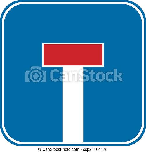 Dead End sign - csp21164178