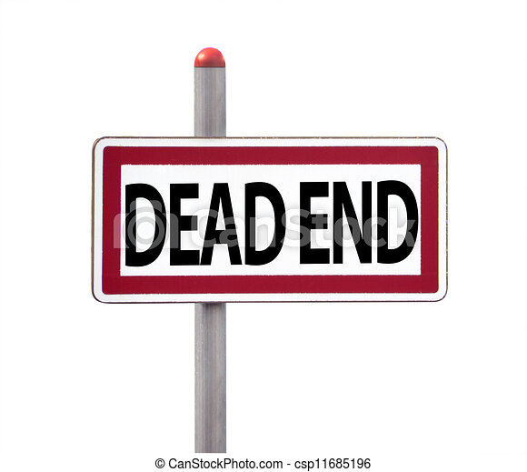 Dead end sign, isolated - csp11685196
