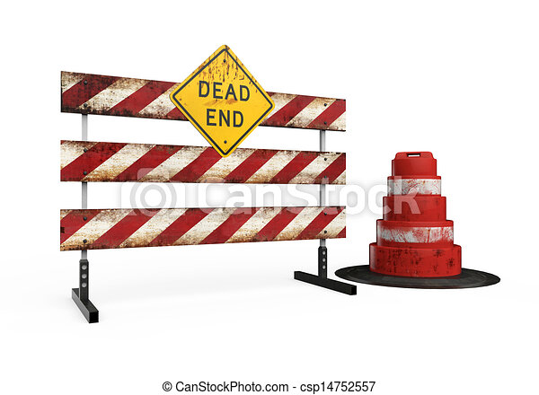 Dead End Sign - csp14752557