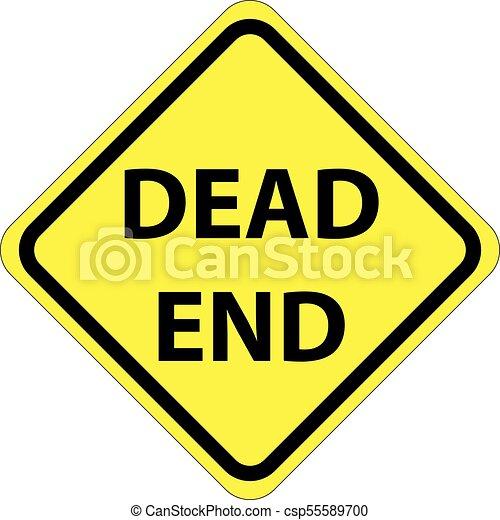Dead End sign - csp55589700