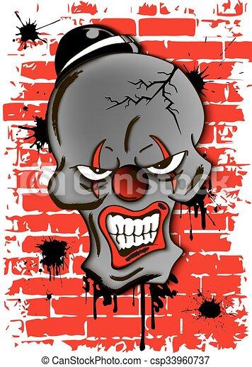 dead evil clown - csp33960737