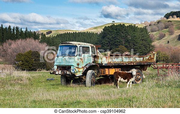Dead Farm Truck - csp39104962