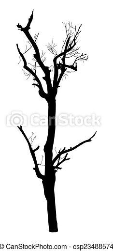 dead tree silhouette abstract spooky horrible dead tree vector rh canstockphoto com Dead Oak Tree Vector Vector Dead Tree with Buds