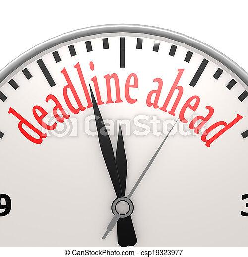 Deadline ahead clock - csp19323977