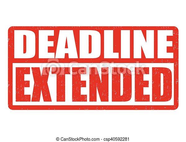 Deadline extended stamp - csp40592281