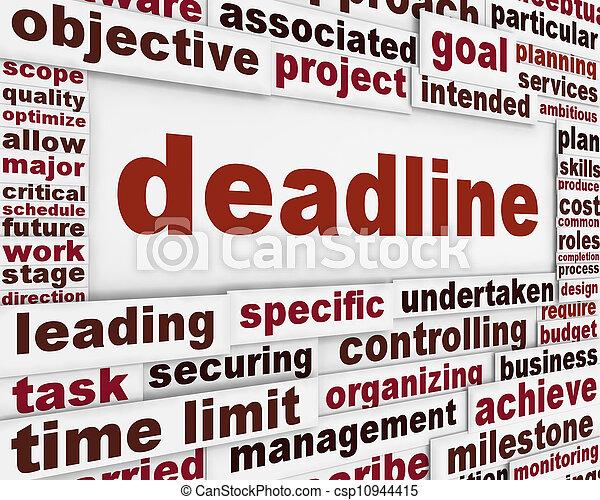 Deadline poster conceptual design - csp10944415