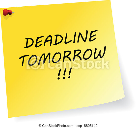Deadline Tomorrow Message - csp18805140