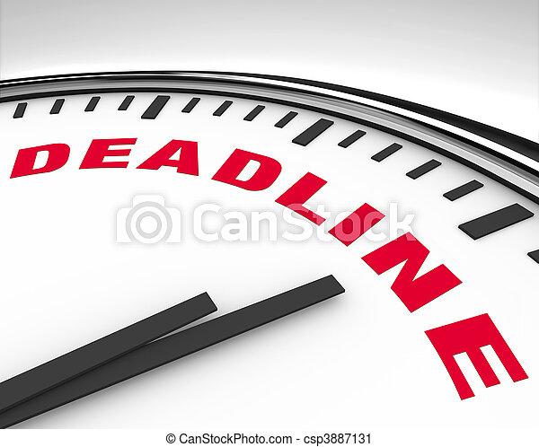 Deadline - Word on Clock - csp3887131